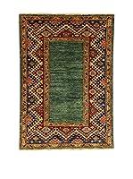 Design Community By Loomier Alfombra Ozbeki Ghazni Heriz Verde/Multicolor 128 x 90 cm