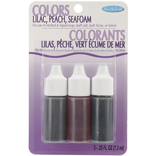 Colors .75oz 3/Pkg-Lilac, Peach and Seafoam - 1