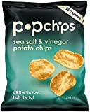 Popchips Sea Salt and Vinegar Potato Chips 23 g (Pack of 24)