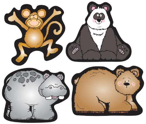 Carson Dellosa D.J. Inkers Zoo Friends Shape Stickers (668033)