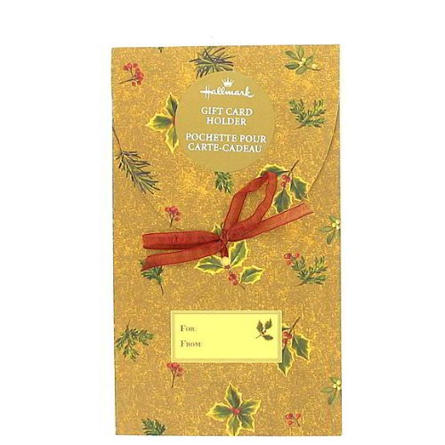 72 Christmas holly gift card holder