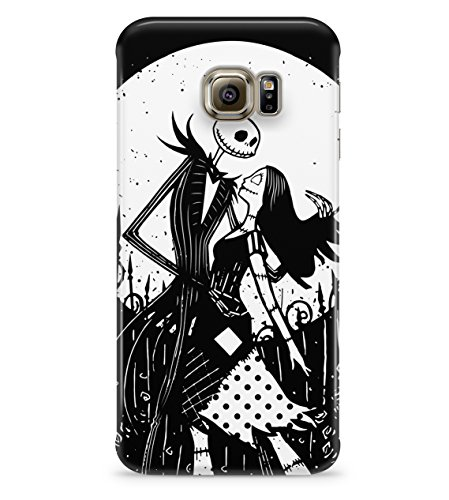 Nightmare Before Christmas Jack And Sally Hard Plastic Snap On Back Case Cover For Samsung Galaxy S6 Edge Custodia