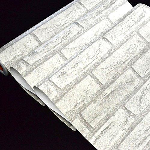 Yazi-Papel-pintado-adhesivo-extrable-autoadhesivo-de-ladrillos-moderno-mural-rollo-papel-pintado-pared-dormitorio-casa-blanco