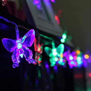 Solar butterfly string lights