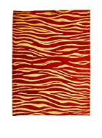 CarpeTrade Alfombra Soft Silk Nepal (Rojo/Beige)