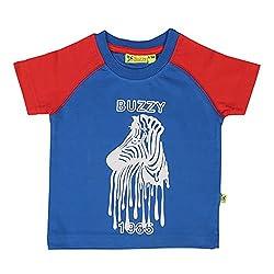 Buzzy Baby-Boys' Cotton T-Shirt (Blue,9-12M)