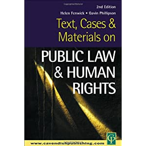 Text, Cases and Materials on Public Law and Human Rights (Sourcebook S) (Paperback)