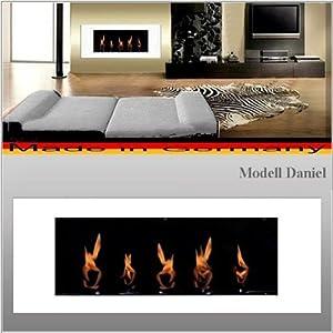 Gel und Ethanolkamin Kamin Modell Daniel  Wählen Sie die Farbe (Weiss)   Kundenbewertung und Beschreibung