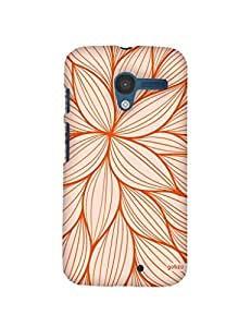 Gobzu Printed Hard Case Back Cover for Moto X1 / Moto X 1st Generation - Flowery Pattern