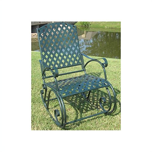 International Caravan Diamond Lattice Rocker - Dark Green - 3486-ep picture