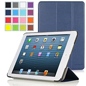 MoKo Apple iPad Air Case - Slim Folding Case for Apple iPad 5 Air (5th Gen) Tablet, PURPLE (With Smart Cover Auto Wake / Sleep)