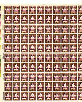 Santa Claus Ornament Sheet of 100 x 15 Cent US Postage Stamps NEW Scot 1800
