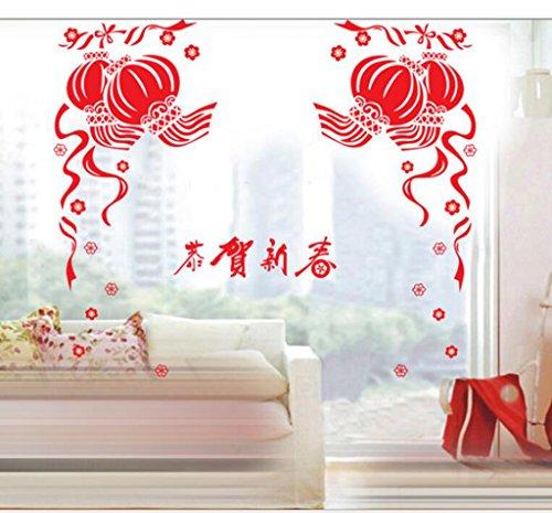 NewYear,finestra,vetro decorazione,,wall Sticker