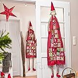 Wunderschöner XXL Adventskalender zum Befüllen 180 cm zum Aufhängen mit großen Taschen Junge / Mädchen sortiert