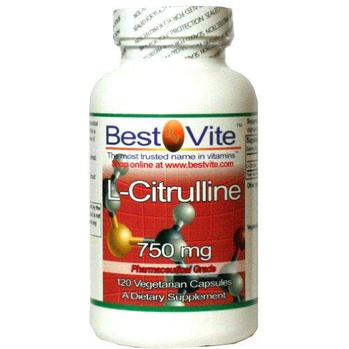 L-citrulline 750mg (120 capsules végétariennes)