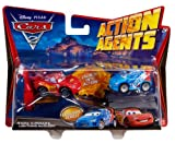 Disney Cars 2 Action Agents V8651 Raoul Caroule & Lightning Mcqueen
