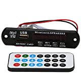 UEB Car Audio Bluetooth USB SD TF MP3 WMA Decoder Board 12V Wireless Audio Module Audio Player Module WMA Board Speaker