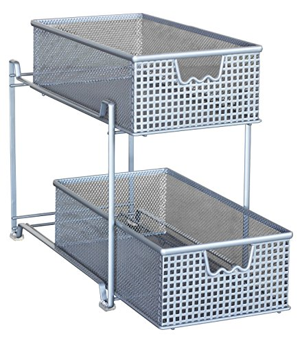 Metal Under Cabinet Storage Rack Shelf Organizer Kitchen: Storage Basket Organizer Sliding Drawer Kitchen Under