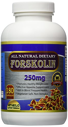 Pure Forskolin Extract 250mg – * 180 Vegetable Capsules – * Premium Quality ★ * Great Value Size ★ Highest Grade Forskolin for Weight Loss ★(Standardized to 20% for Diet Supplements) ★Weight Loss Quick with the Best Forskolin Belly Buster ★ Clinically Proven Appetite Suppressant ★ Risk Free – 100% Money Back Guarantee ★ For a Healthier You Starting Today!