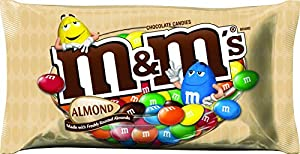 M&M's with Almond Candy, 9.9-Ounce Packages (Pack of 6)
