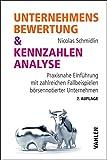 Image de Unternehmensbewertung & Kennzahlenanalyse: Praxisnahe Einführung mit zahlre