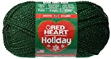 Coats yarn Red Heart Holiday Yarn, Hunter with Gold Metallic