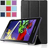 Lenovo Tab 2 A8 Case - HOTCOOL Ultra Slim Lightweight SmartCover Stand Case For 2015 Released 8-Inch Lenovo TAB 2 A8-50 ZA030046US Tablet, Black