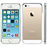kwmobile Metall Glitzer Bumper H�lle f�r Apple iPhone 5 / 5S - Aluminium Rahmen Protection Schutzh�lle Cover in Silber