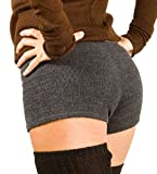 Charcoal Small Sexy Low Rise Stretch Knit KD dance Yoga & Dance Boy Shorts Made In USA Ships Via Amazon