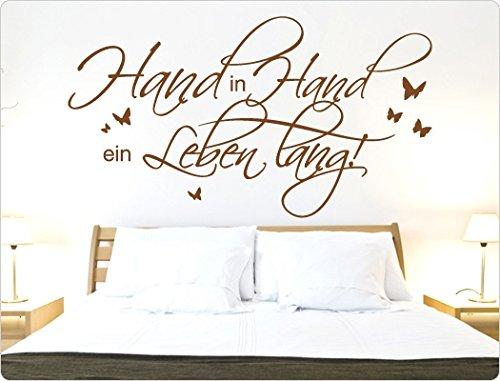 i love wandtattoo 11688 wandtattoo spruch hand in hand ein leben lang. Black Bedroom Furniture Sets. Home Design Ideas