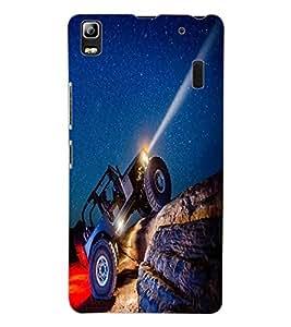 ColourCraft Mountain Truk Design Back Case Cover for LENOVO A7000