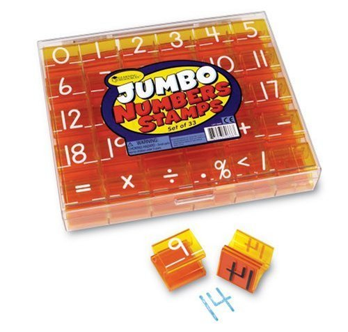 Creativity And Learning Come Together With Stamps. - Learning Resources - Jumbo Numbers & Operations Stamp Set
