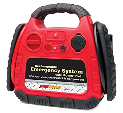 RoadPro RPAT-774 Rechargeable Emergency System with 12V Power Port and Air Compressor