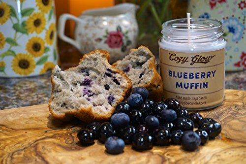 Bougie en cire de soja Parfum muffins aux myrtilles Par Cozy Glow 30 heures de combustion, 6,8 g pot