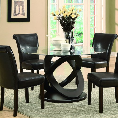 Monarch Tempered Glass Dining Table 48 Inch Diameter  : 51oq1MvsJUL from www.mytimehome.com size 500 x 500 jpeg 61kB