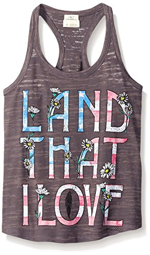 O'Neill Little Girls' Love Land, Charcoal/Charcoal, Large
