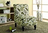 Monarch Gold Floral Traditional Accent Chair, Brown
