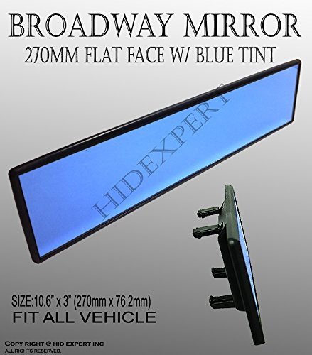 JDM Universal Broadway 270mm Flat Blue Tinted Interior Clip On View Mirror EMC (2007 Nissan Quest Mirror compare prices)