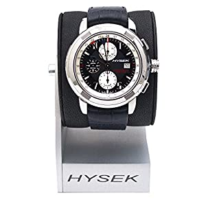 Hysek IO Chronograph And Dual Time IO4704A02 47mm Automatic Stainless Steel Case Blue Calfskin Anti-Reflective Sapphire Men's Watch