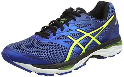 Asics GEL-Cumulus 18 Scarpe Running Uomo, Blu (imperial/safety Yellow/black), 46.5 EU