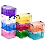BOXES ASSORTED 65X85X120MM PK10 Storage Boxes