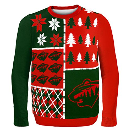 Minnesota Wild Busy Block Ugly Sweater