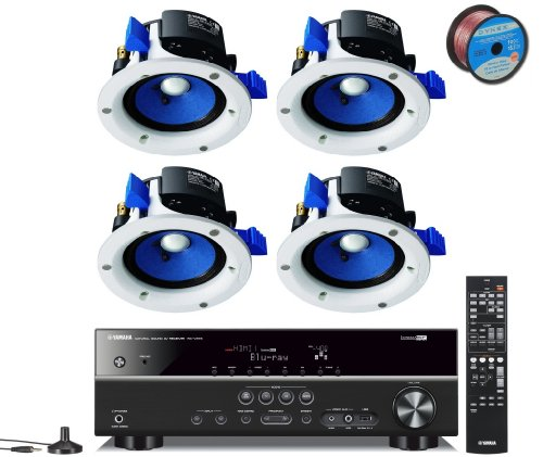 Yamaha 3D-Ready 5.1-Channel 500 Watts Digital Home Theater Audio Video Receiver With 4K Pass-Through, Hd Audio Decoding, Cinema Dsp, Adaptive Dynamic Range Control, 40-Station Preset Tuning, Sleep Timer, Compressed Music Enhancer & Front Panel Usb Digital