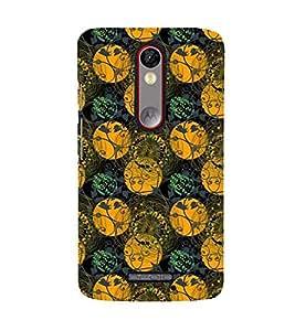 Printvisa Premium Back Cover Green And Yellow Circular Pattern Design For Motorola Moto X Force