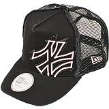 ニューエラ ディーフレイム トラッカー メッシュキャップ バタリオン ヤンキース ブラック/ピンク 黒 NEWERA D-FRAME TRUCKER MESH CAP BATALION YANKEES(MLB) BLACK/PINK N0005019 [メジャーリーグ ヤンキース ニューエラ キャップ]