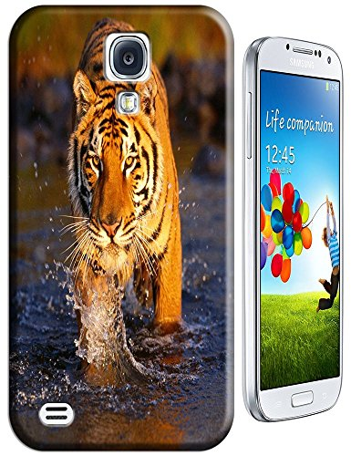 Tiger Case Cover Hard Back Cases Beautiful Nice Cute Animal Hot Selling Cell Phone Cases For Samsung Galaxy S4 I9500 # 18 front-420081