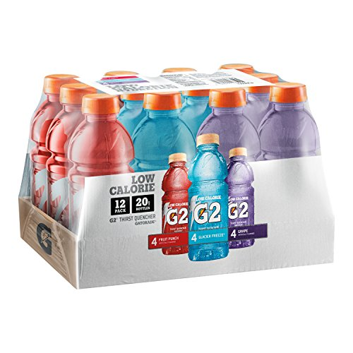 Gatorade G2 Thirst Quencher Variety Pack, 20 Ounce Bottles (Pack of 12) (Gatorade G2 Powder Fruit Punch compare prices)