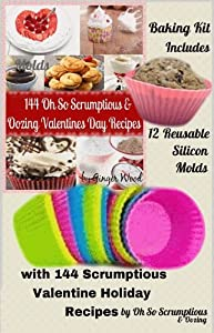 Silicone Baking Molds: 12 Silicone Muffin Cups: Baking Set of 12 High Quality Silicon... by Oh So Scrumptious Baking Set