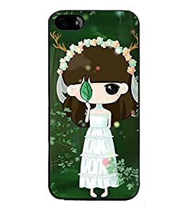 Fuson Premium 2D Back Case Cover Cute baby with leaf With Grey Background Degined For Apple iPhone 4::Apple iPhone 4S