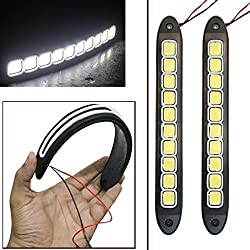 AutoStark Flexible Bumper Protector Car Daytime Running Light White For Maruti Suzuki Swift Dzire (Old)